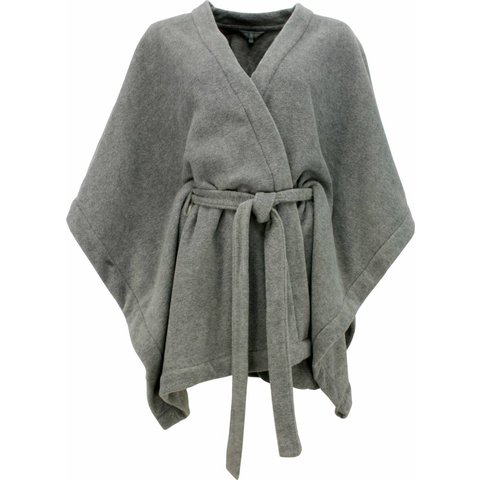 Irresistible Dames Poncho Grijs maat One Size