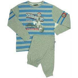 Merkloos Blue Docks Grijs Melange Jongens Pyjama BDPYJ1301A