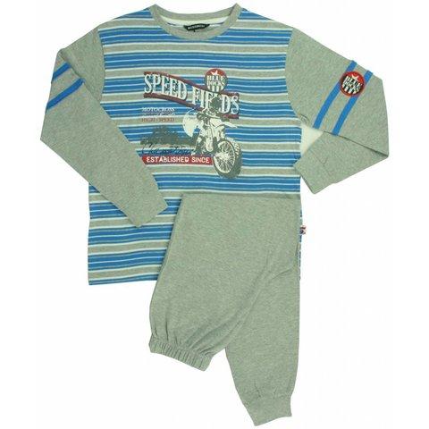Blue Docks Grijs Melange Jongens Pyjama BDPYJ1301A