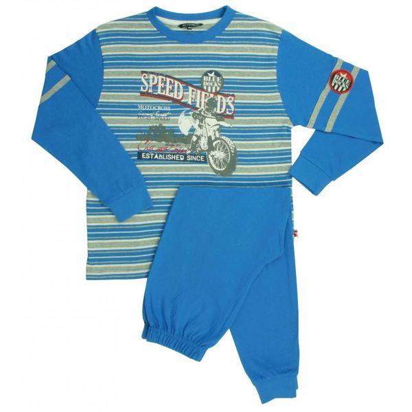 Merkloos Blue Docks Blauw - Grijs Melange Jongens Pyjama BDPYJ1301B