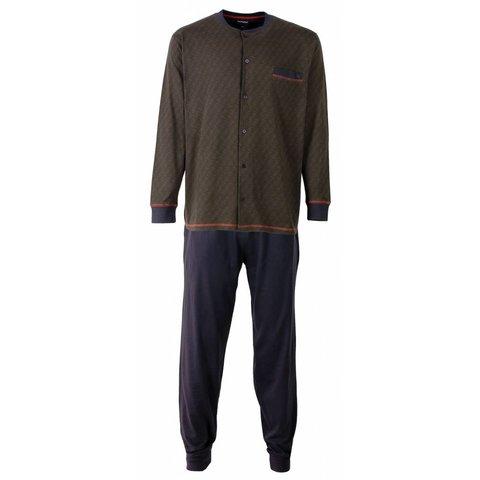 Paul Hopkins Heren Pyjama Grijs doorknoop ziekenhuis PHPYH2511A
