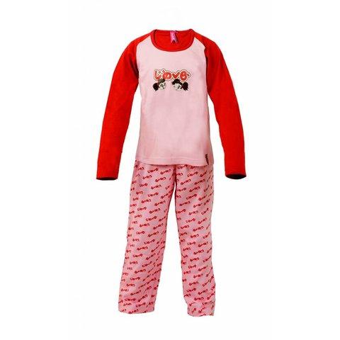 AnnaRebella Meisjes Pyjama Roze-Rood PYM24001B