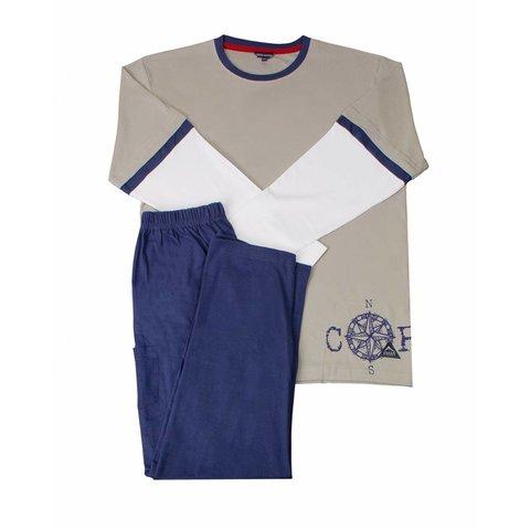 Blue Docks Jongens Pyjama Khaki