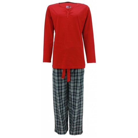 Tenderness Dames Pyjama Rood TEPYD2205A