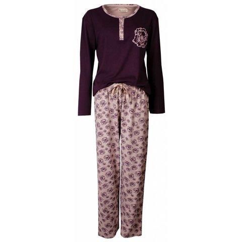 Tenderness Dames Pyjama Paars TEPYD2404B