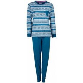 Irresistible Irresistible Dames Pyjama Blauw Groen