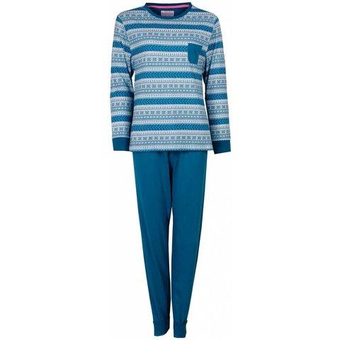 Irresistible Dames Pyjama Blauw Groen