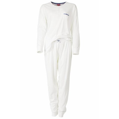 Medaillon Dames Pyjama Wit
