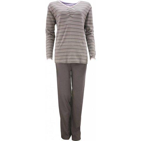 Tenderness Dames Pyjama Bruin Streepjes