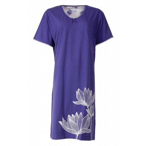 Medaillon Dames Nachthemd Blauw