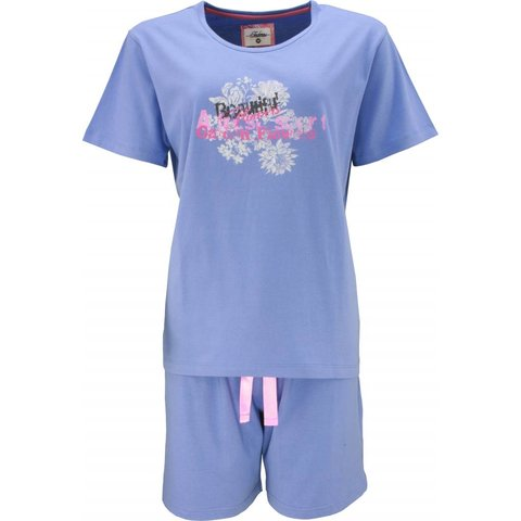 Tenderness Dames Shortama Blauw
