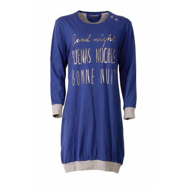 Irresistible Irresistible Dames Nachthemd Slaapkleed  Blauw IRNGD2506B