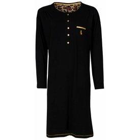 Medaillon Medaillon Dames Nachthemd Zwart MENGD2401A