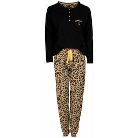Medaillon Medaillon Dames Pyjama Zwart Tijger MEPYD2402A