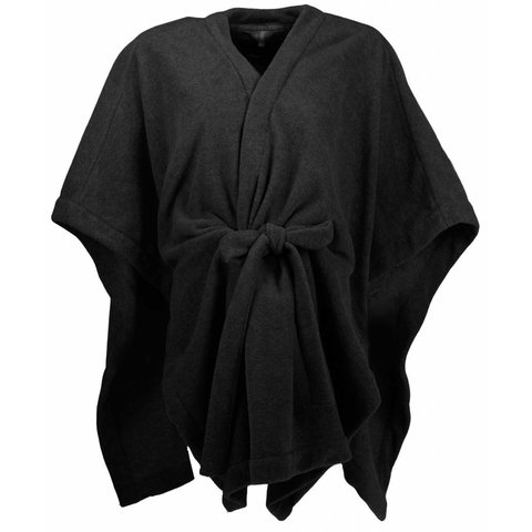 Irresistible Dames Poncho Zwart maat One Size