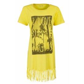 Tenderness Zomers Bigshirt met Franjes. TEMNGD1609A – Geel – C3