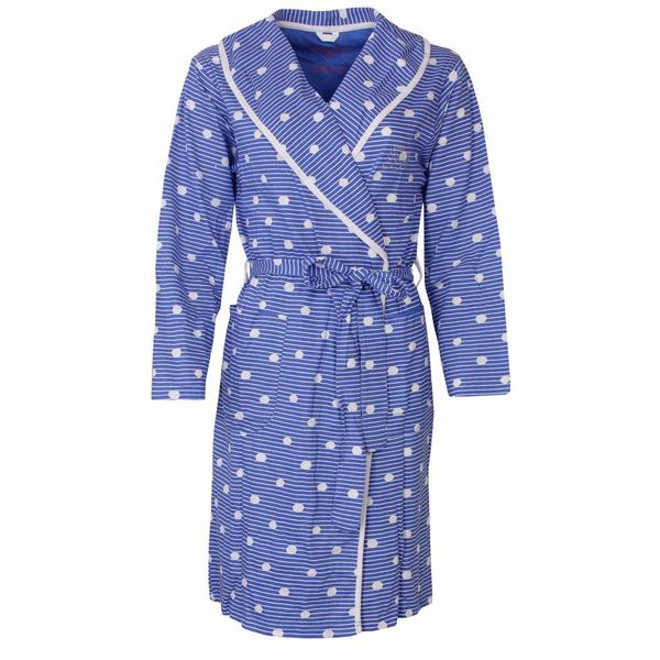 Irresistible Dames badjas in dunnere jersey kwaliteit-IRBRD1406C-S-Blauw-RM