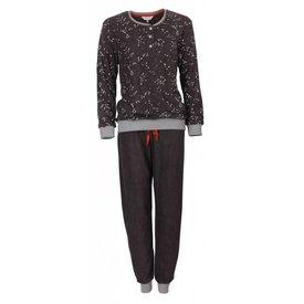 Tenderness Dames pyjama van badstof met zachte binnenkant. TEPYD2709A-Antraciet-X9