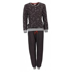 Tenderness Tenderness  Badstof Dames Pyjama Donker Grijs  TEPYD2709A
