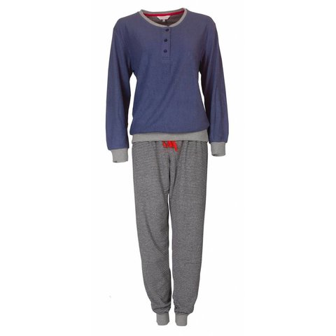 Dames pyjama van badstof met zachte binnenkant. TEPYD2710A-W9-10