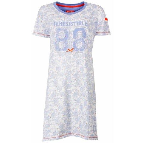 Irresistible dames nachthemd met cijfer opdruk.  Vista Blue  P2