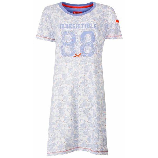 Irresistible Irresistible dames nachthemd met cijfer opdruk.  Vista Blue  P2