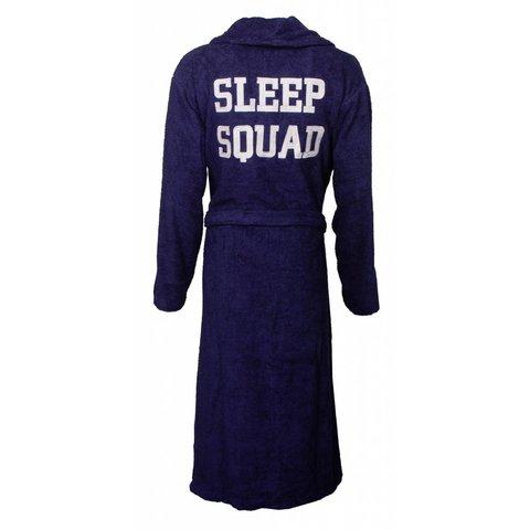 Tenderness dames badjas met rug applicatie-Blauw-Z