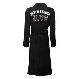 Tenderness Tenderness dames badjas met rug applicatie-Zwart.Z