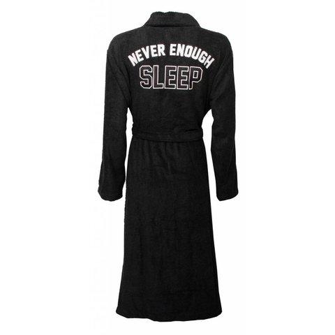 Tenderness dames badjas met rug applicatie-Zwart.Z