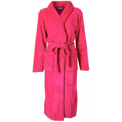 Irresistible Dames Badjas Donker Roze