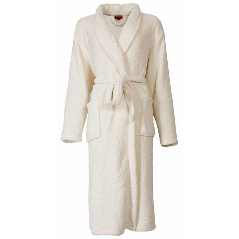 Medaillon dames badjas gebroken Wit MEBRD2102B-J4