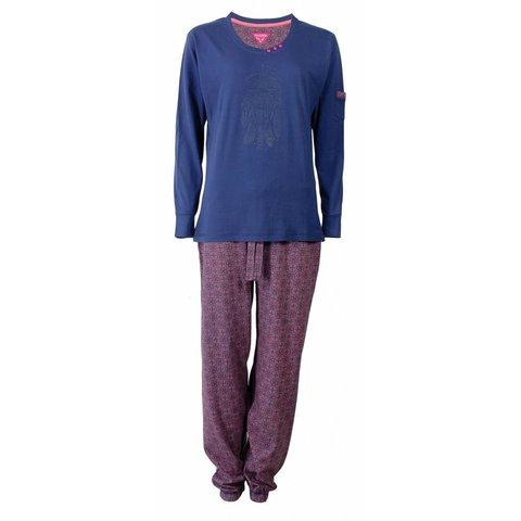Irresistible Dames Pyjama Blauw  IRPYD2502B