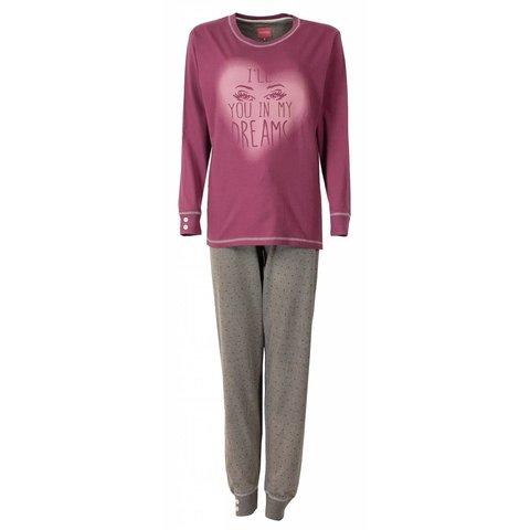 Irresistible Dames Pyjama Donker Roze IRPYD2503A