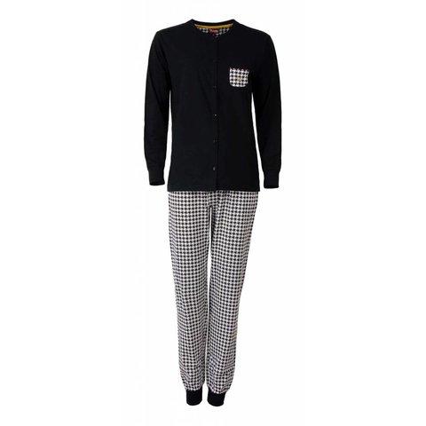 Medaillon Dames pyjama Zwart MEPYD2502A-D6