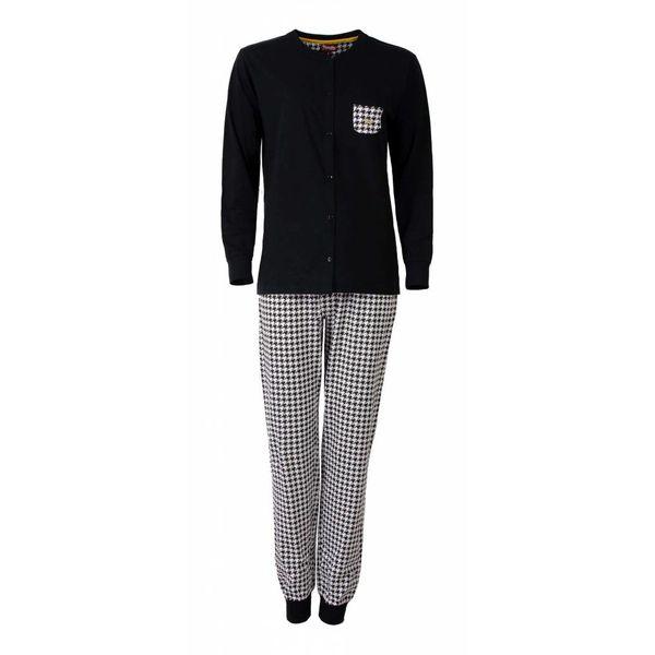 Medaillon Medaillon Dames pyjama Zwart MEPYD2502A-D6