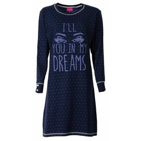 Irresistible Irresistible Dames Nachthemd Slaapkleed  Blauw  IRNGD2504B
