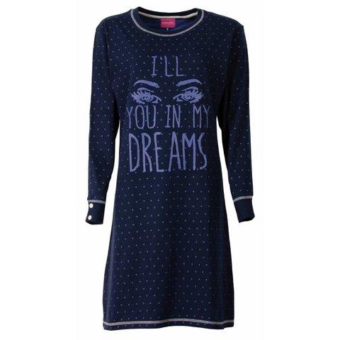Irresistible dames nachthemd Blauw IRNGD2504B-L10