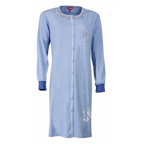 Medaillon Dames Nachthemd Blauw MENGD2407A