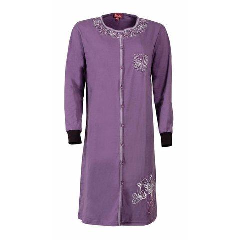 Medaillon Dames Nachthemd Paars MENGD2407B