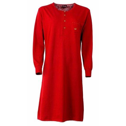 Medaillon Dames Nachthemd Rood