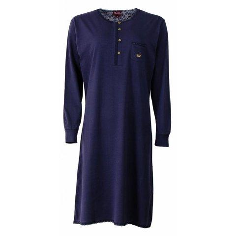 Medaillon Dames nachthemd Blauw MENGD2507B-C4