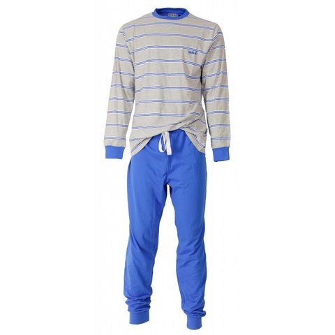 M.E.Q Heren Pyjama Blauw MEPYH1407A
