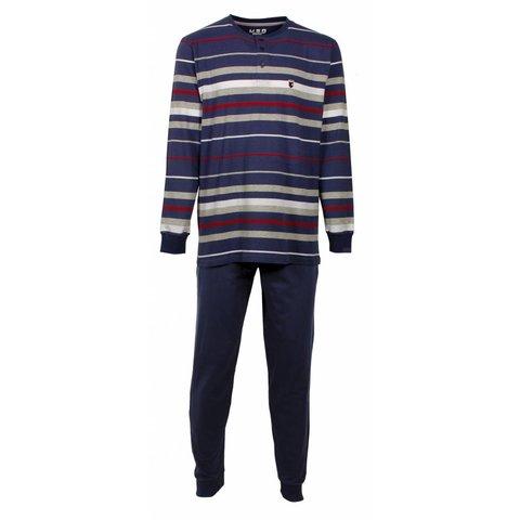M.E.Q Heren pyjama  Blauw MEPYH1604A-N/O
