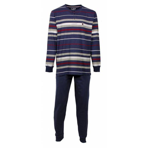M.E.Q M.E.Q Heren pyjama  Blauw MEPYH1604A-N/O