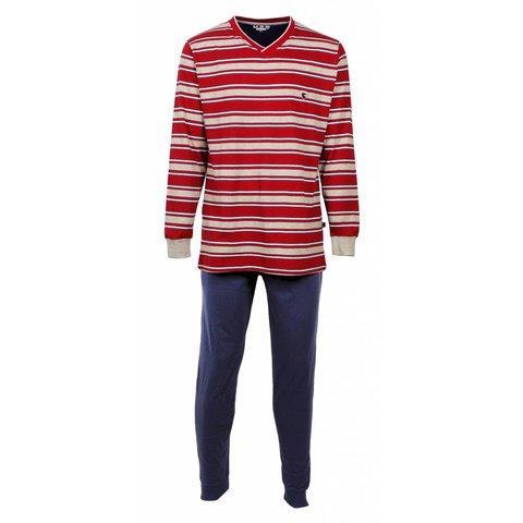 M.E.Q Heren pyjama Blauw MEPYH1605A-O3