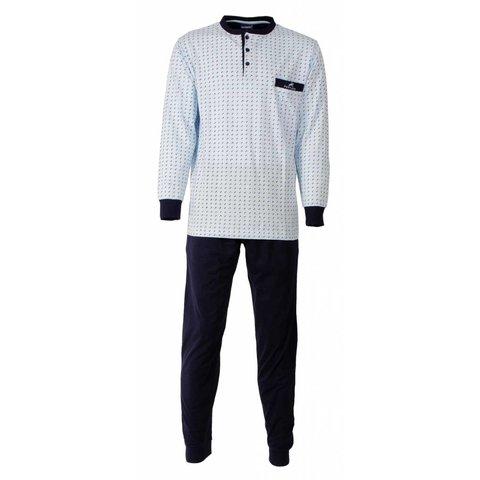 Paul Hopkins Heren Pyjama Licht Blauw