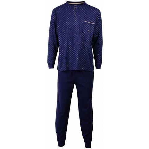 Paul Hopkins Heren pyjama Blauw PHPYH1502A-M3