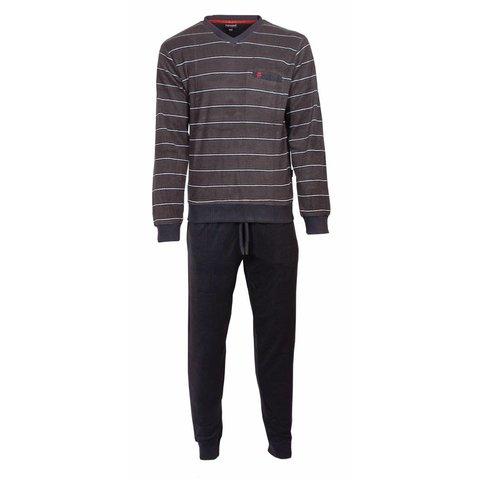 Paul Hopkins Heren Badstof Pyjama Grijs PHPYH2717A