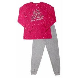 AnnaRebella AnnaRebella Meisjes Pyjama Rood ANPYM2507A