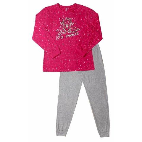 AnnaRebella Meisjes Pyjama Rood ANPYM2507A